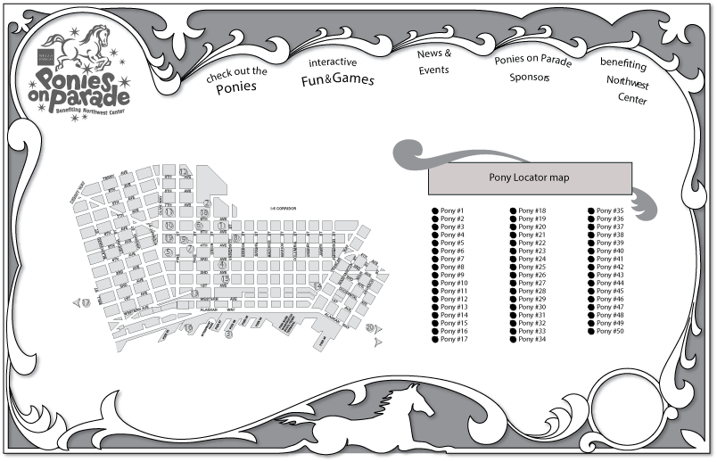 ponies on parade map mockup