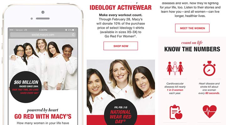Client: Macys - Campaign: Go Red - 2009 - 2018