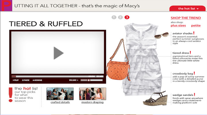Client: Macys - Campaign: video hot list 2009