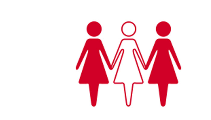 women go red campaign together logo